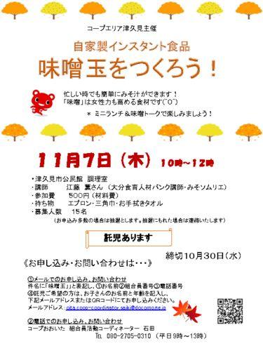 20191107-津久見エリア-味噌玉づくりのサムネイル